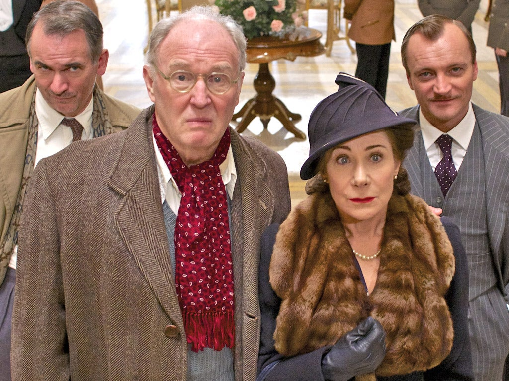 WODEHOUSE IN EXILE Paul Ritter, Tim Piggott-Smith, Zoë Wanamaker, Richard Dormer